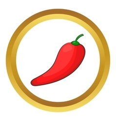 Red chilli pepper icon vector