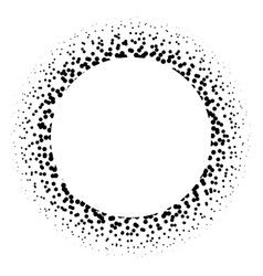 ring of black dots scattered around modern design vector image vector image