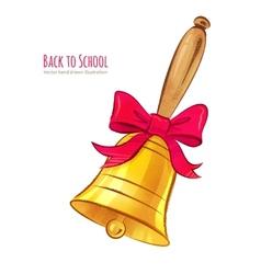 School bell vector image vector image