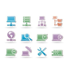 server and hosting objects vector image vector image