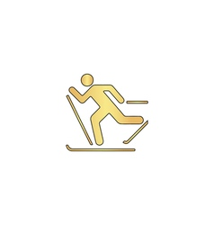 Ski computer symbol vector