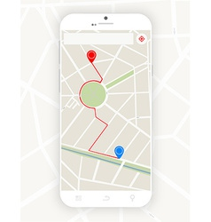 Smartphone with gps vector image vector image