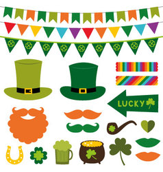 St Patricks Day design elements vector image