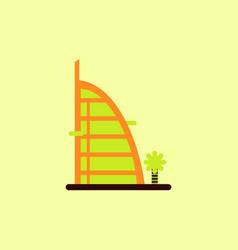 Stylish building hotel vector