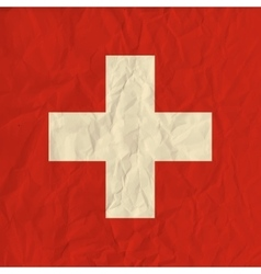 Switzerland paper flag vector