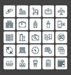 Traveling icons set collection of calculation vector