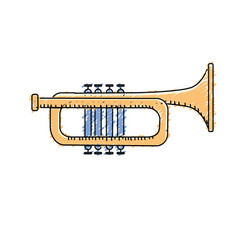 Tumpet musical instrument to play music vector