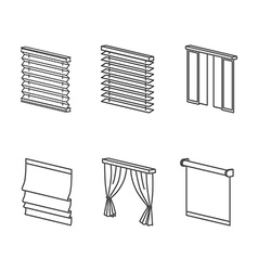 Types of curtains vector