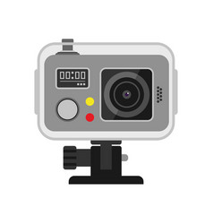 web camera on white vector image