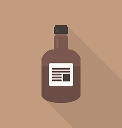 Whiskey flat icon vector image vector image
