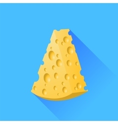 Yellow cheese vector