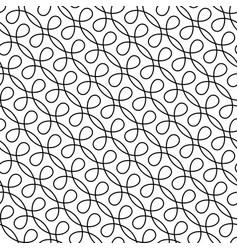 Monocrome seamless linear flourish pattern for vector