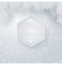 Christmas and new years card in cutout paper style vector