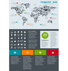 Computer map2 vector image
