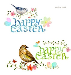 collection invitation cards with happy easter vector image