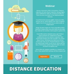 Distance education and learning concept vector