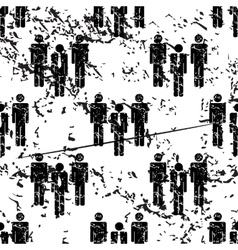 Work group pattern grunge monochrome vector