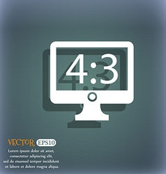 Diagonal of the monitor 21 inches icon sign on the vector