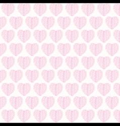 creative valentines pink leaf pattern background vector image