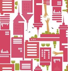 Cityscape pattern vector