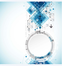 abstract background with various technological vector image vector image