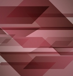Abstract red background with geometric shapes vector image