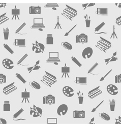 Art icons seamless pattern vector