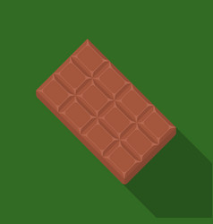 chocolate icon in flat style for web vector image vector image
