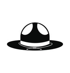Cowboy hat icon simple style vector image