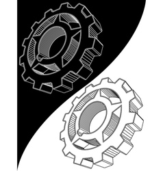 engine gear vector image vector image