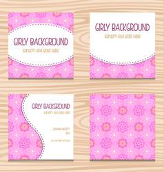 Feminine pink wedding party invitation template vector