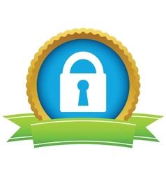 Gold lock logo vector