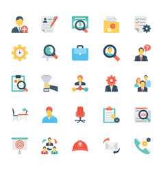 Human resources and management icons 4 vector
