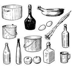 kitchen tools vector image