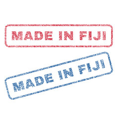 Made in fiji textile stamps vector