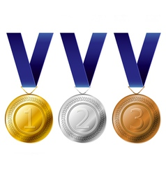Medal award set vector image