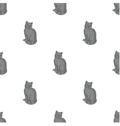 Nebelung icon in cartoon style isolated on white vector