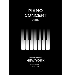 Piano concert poster vector image