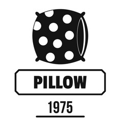 pillow logo simple black style vector image
