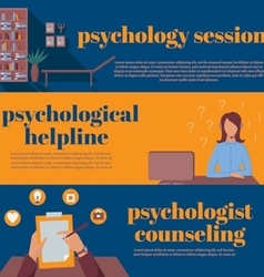 Psychologist office for counseling online vector