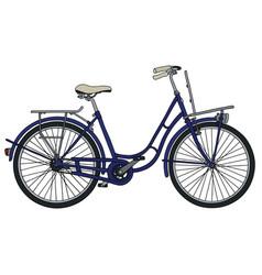Retro blue bicycle vector
