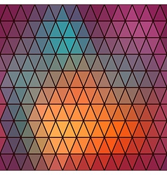 Retro pattern of geometric shapes triangle vector