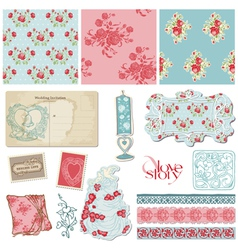 Scrapbook Vintage Wedding vector image