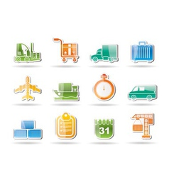shipping and transportation vector image vector image