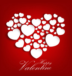 valentines day background with concept a heart vector image