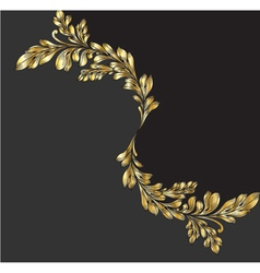 vintage gold floral background vector image vector image