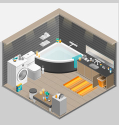 Bathroom isometric vector