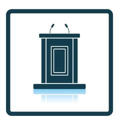 Witness stand icon vector