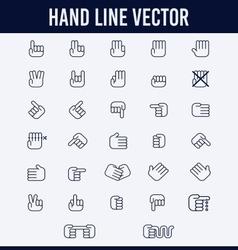 HAND LINE vector image