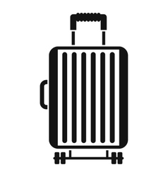Suitcase on wheels icon simple style vector